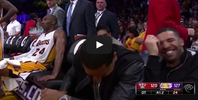 Kobe Bryant Talks To Drake During Overtime vs Raptors