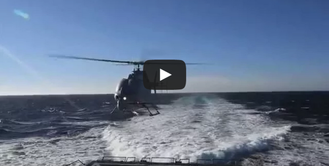 MQ-8C Fire Scout first shipboard flight