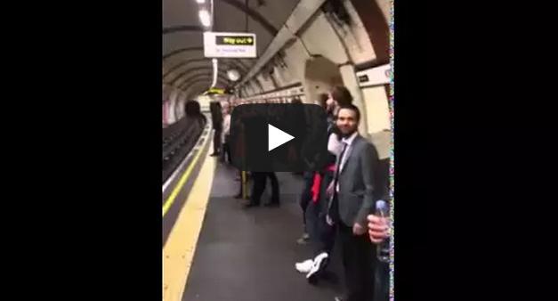 Neil Francis singing on London Underground