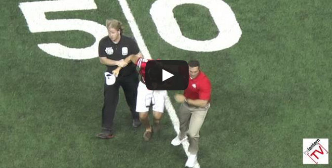 Ohio State Coach Anthony Schlegel Tackles Fan on Field