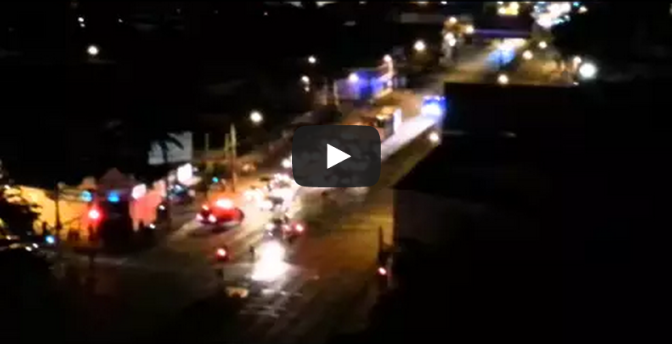 POLICE HELICOPTER CRASH VIDEO 2 - Fire Truck Hits Helicopter