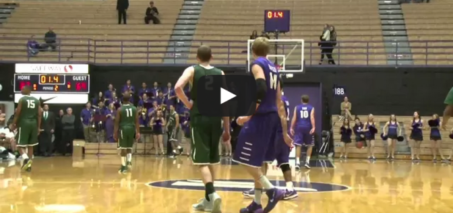 Portland State player fakes handshake, steals ball, dunks it