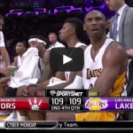 Rick Fox Nuts Comment – Kobe takes balls to the face