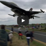 Turkish F-16 Pilot Ducks Under The Glide Slope, Low Over The Plane Spotters