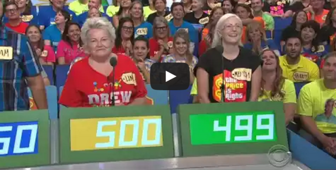 Vickie guesses $1 dollar on The Price is Right