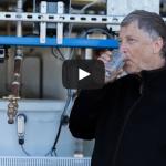 Bill Gates drinks water derived from sewage sludge