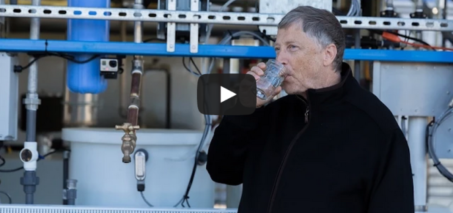 Bill Gates drinks water derived from sewage sludge