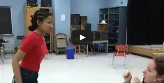 Clip of Nicki Minaj acting in High School