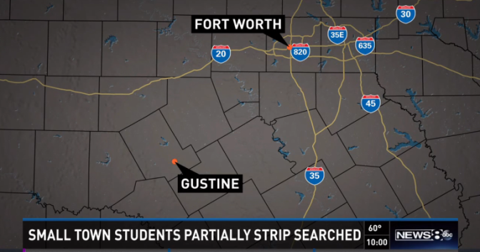 Gustine, Texas - Students forced to pull down pants