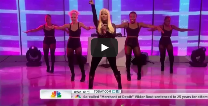 Nicki Minaj singing Starships like a caveman
