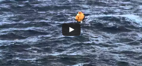 Rescue of man overboard from Disney Magic on January 7, 2015