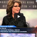 "Sarah Palin in Iowa: ""The man"" (?) is doing some dirty things to…the middle class? The GOP?"