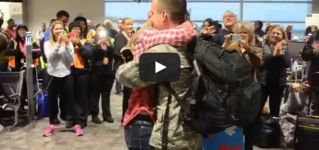 Surprise Christmas Air Force Proposal at the Airport