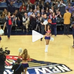 Will Ferrell hits a Laker girl in the face with a Basketball