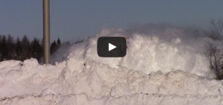 EPIC CATCH!!! Dashing Thru the Snow – CN Train 406 West at Salisbury, NB (Feb 3, 2015)