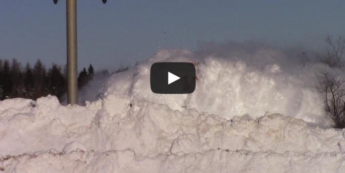 train plowing snow