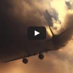 Emirates A380 CLOUD CUTTING