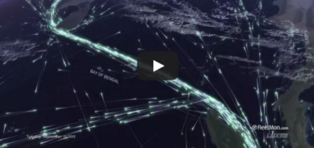 Global ship traffic seen from space – FleetMon Satellite AIS and FleetMon Explorer