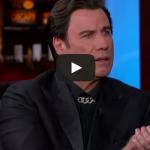 John Travolta Explains Idina Menzel Moment