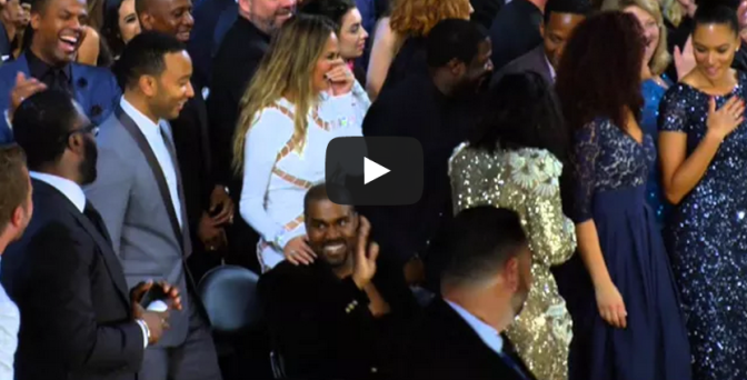 Kanye West crashing Beck's Album Of The Year Acceptance Speech