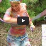 Katie Sunshine's Paint Hoop – Hula hoop art