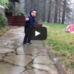 Kid falls in puddle and walks it off. Funny.