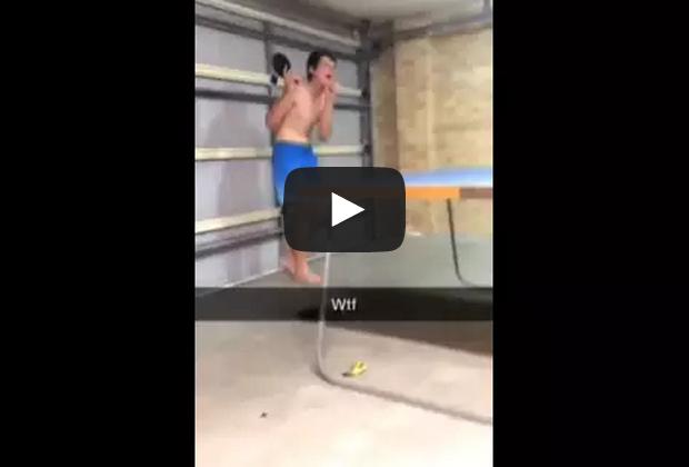 Kid throws ping pong bat original