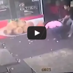 Man tries to kick Dog but face plants instead