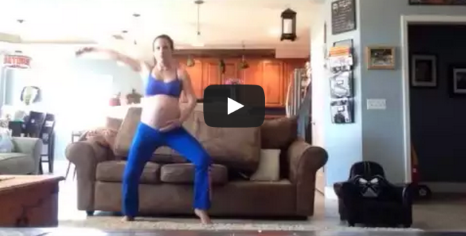 Mom dances to thriller to induce labor