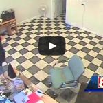 Raw Video: Dog bites robbery suspect