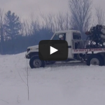 Snowblowing with a jet engine, first try! PowerModz!