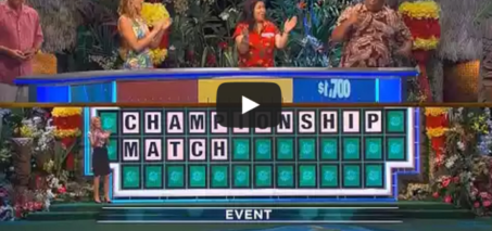 """Wof """"Championship Match"""" guess with 1 letter showing"""