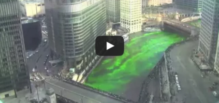 2015 Dyeing the Chicago River Green for St. Patricks Day – Time-lapse