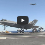 F-35C Completes First Arrested Landing aboard Aircraft Carrier