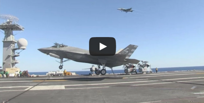 F-35C First Arrested Landing
