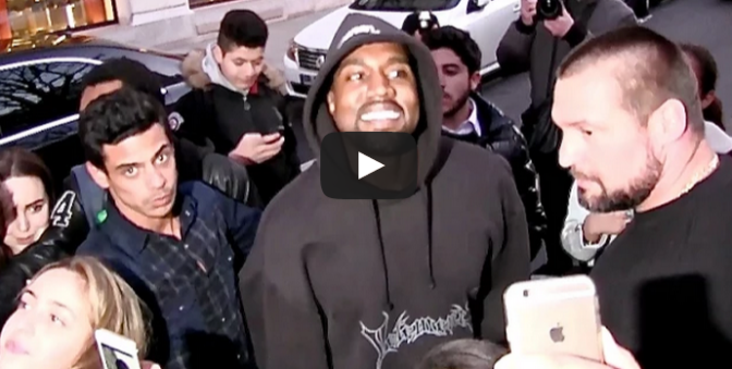 Hip Hop artist performs for Kanye West in front of his hotel