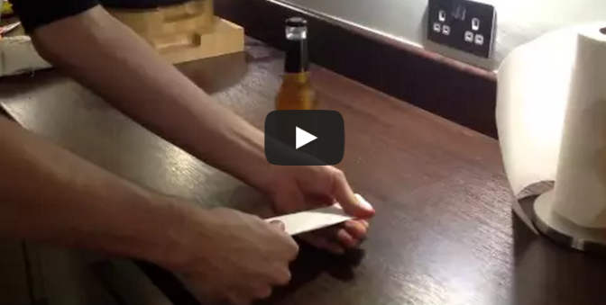 How to open a bottle of beer with a sheet of paper