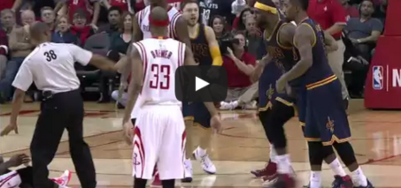 James Harden Kicks LeBron James in the Groin