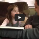 Little girl reacts to news she's going to be a big sister.