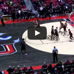 NIU's Pete Rakocevic brings the hoop and the house down