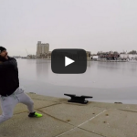 Paul Rabil Throws a Lacrosse Ball Across Baltimore Harbor