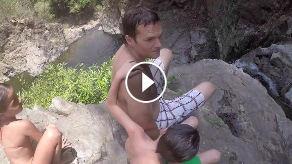 Tom Brady jumping off a cliff