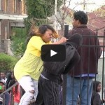 Angry mother beats son for participating in Baltimore riots