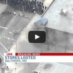 CVS set on fire during Baltimore riots