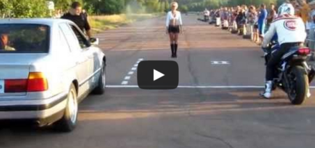 Car vs Bike – Drag Race fail