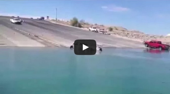 Crazy and dangerous boat launch