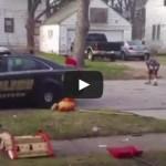 Muskegon police play football with kids