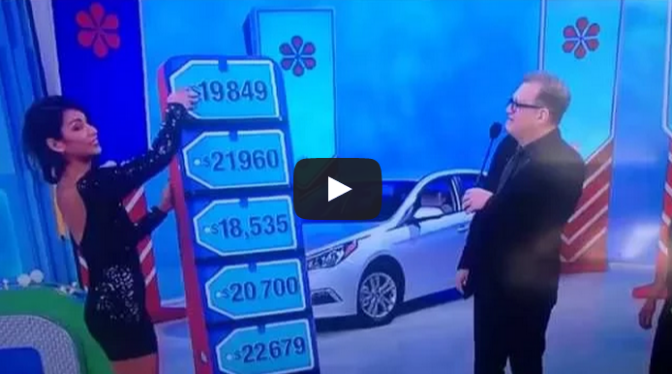 Price is Right Lady Price is Right Model Screws up