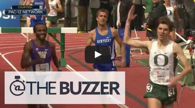 Runner prematurely celebrates win, gets passed at finish line
