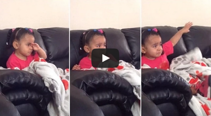 little girl's reaction to Mufasa dying